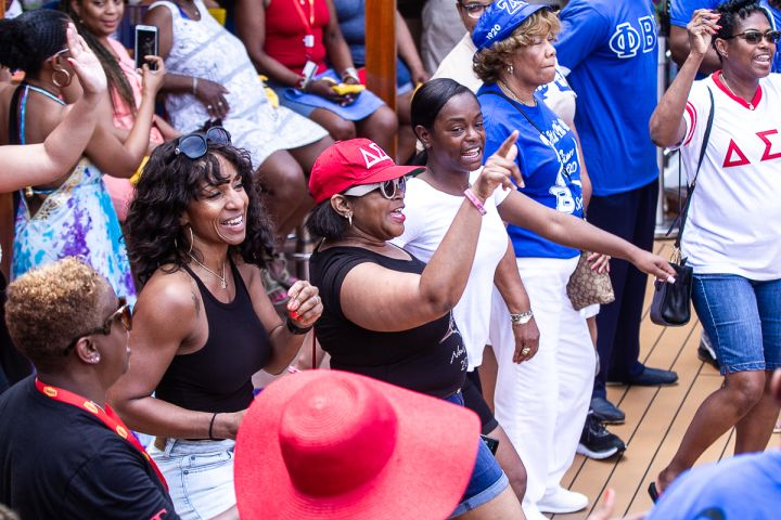 The Greek Takeover Party on the 2019 Fantastic Voyage